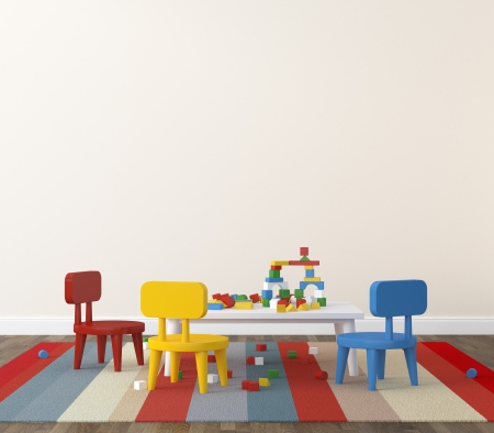 Interior of playroom kidsroom  photo