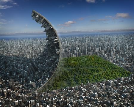 Urban development Standard-Bild