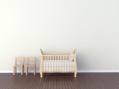 vivero: Interior del cuarto de niños Foto de archivo