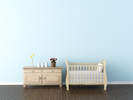 3d bedroom: Interior of nursery