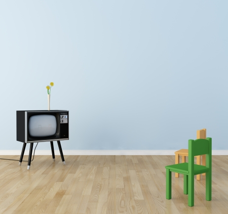 Children s room there is a television 免版税图像 - 20625048