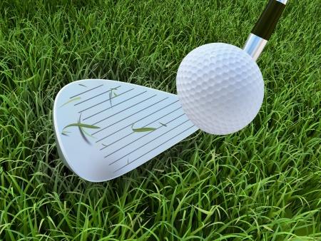 ゴルフ インパクト 写真素材
