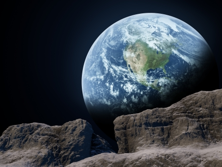 heaven on earth: Earth seen from the moon
