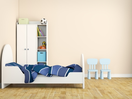 kid bed room photo