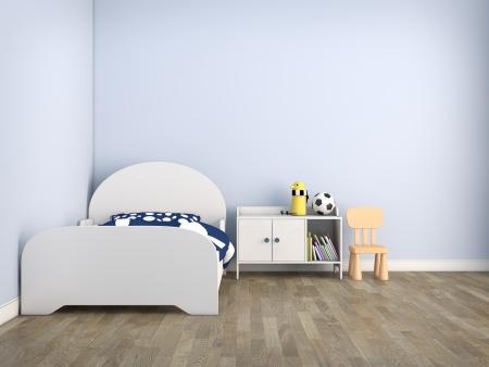 playroom: habitaci�n con cama ni�o Foto de archivo