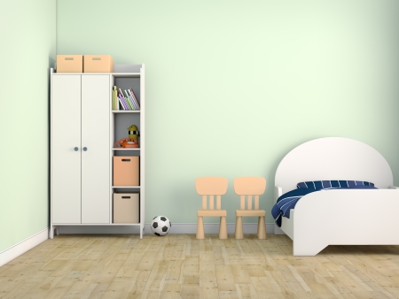 wall design: kid bed room