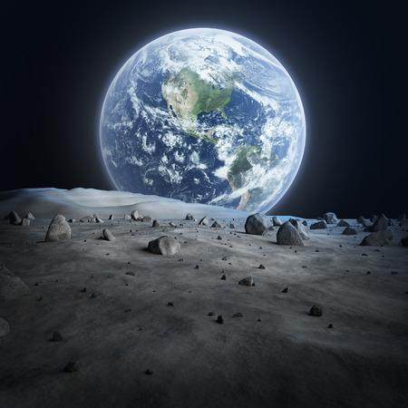 Aarde gezien vanuit de maan Stockfoto - 26785775