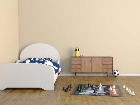 indoors: bed room kids room
