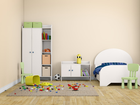 modern interieur: kinderen bed kamer