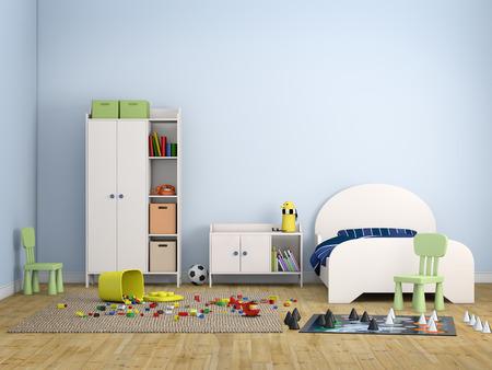 kids bed room photo