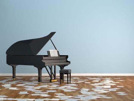 luxury homes: piano room