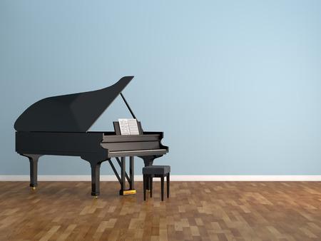 a grand piano: piano room