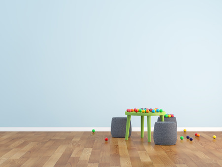 room wall: kids room Stock Photo