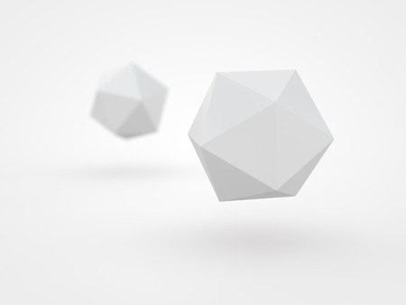 icosahedron: 3d icosahedron Stock Photo