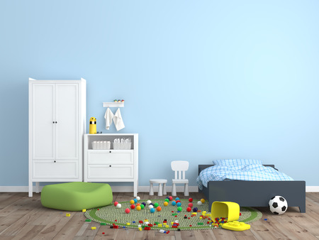 in a room: kids room Interior 3d rendering image