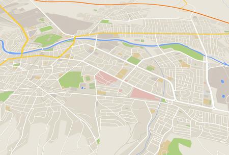 mappa: Mappa della città Archivio Fotografico