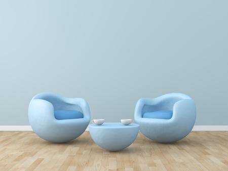 modern chair: kids room Interior 3d rendering image