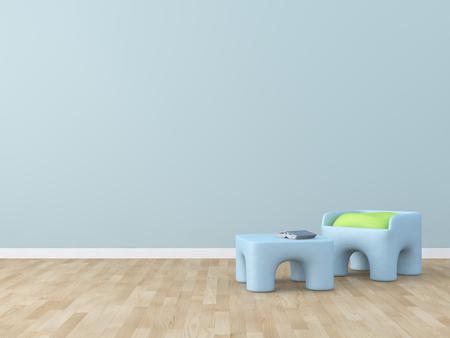 baby bed: kids room Interior 3d rendering image