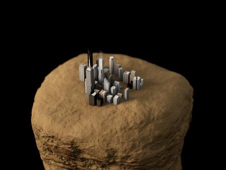 岩の上の都市