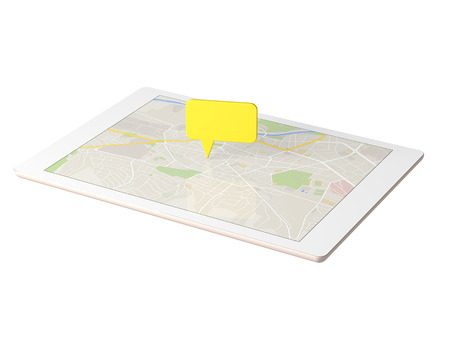 i pad: Tablet to display the map