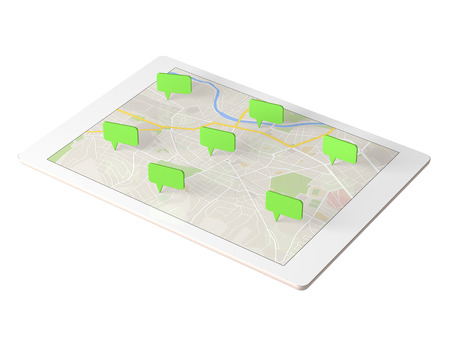 Tablet to display the map