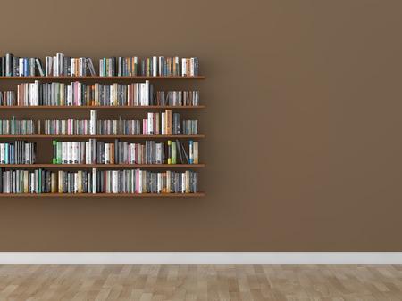 Biblioteka pokój między regał