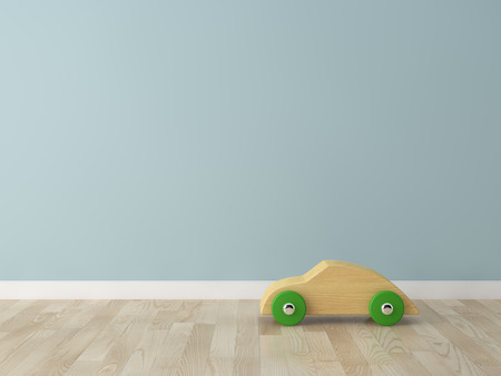 wooden toy: wooden car toy in the kids room