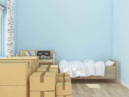 レンダリング画像を移動する子供部屋 写真素材 - 55211613