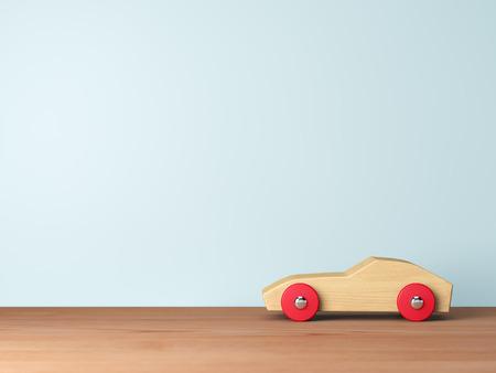 Refroidir voitures jouets en bois Banque d'images