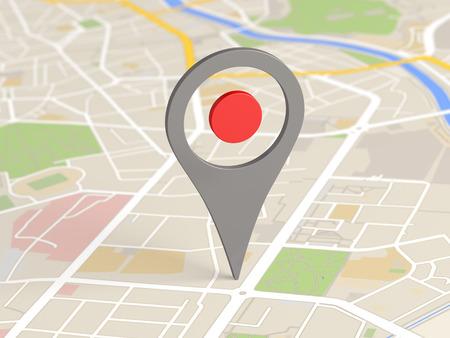 Icono de mapa de localización Foto de archivo - 55440201