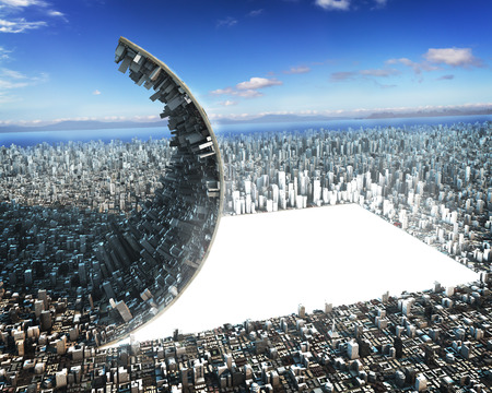 Sci-fi urban development Standard-Bild