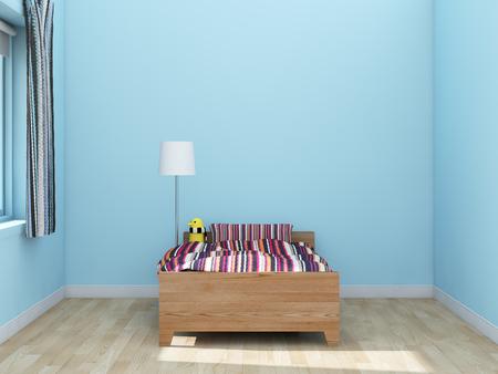 wall light: kids room Interior 3d rendering image