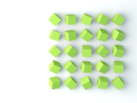 lay: Polygon background. Lay flat, top view. 3D image Stock Photo