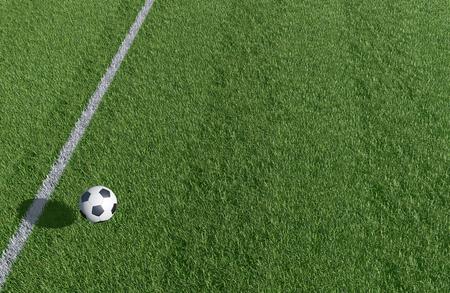 サッカーとサッカーのフィールド背景の 3 D 画像