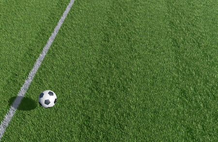Soccer and Football field background 3D image
