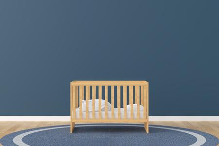 Van de de ruimtebed van de baby ruimte 3d teruggevend beeld Stockfoto