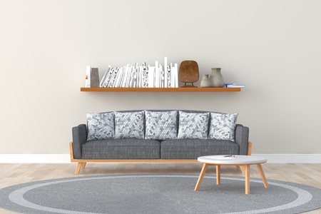 interior design of a room with sofa Standard-Bild - 100153560