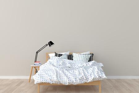 Schlafzimmer Interieur. 3D übertragen. Standard-Bild - 81776963