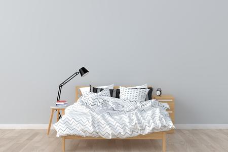 Schlafzimmer Interieur. 3D übertragen. Standard-Bild - 81776966