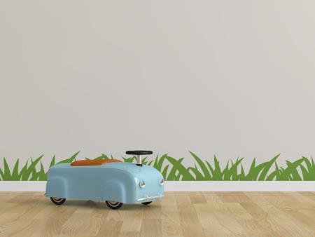 Kids room toy car