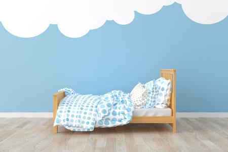 ベッド子供部屋。 写真素材 - 84546882