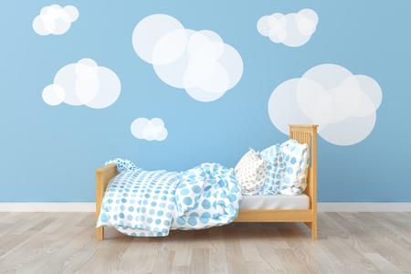 Bed room kids room.