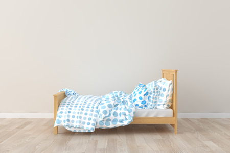 Bed room kids room. 3D interior