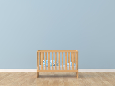Baby room bed room 3d rendering image