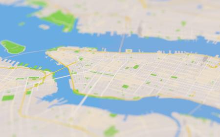 city map 3D illustration