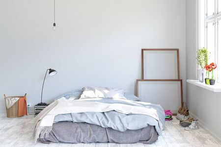 bed room 3D rendering 写真素材 - 130414287