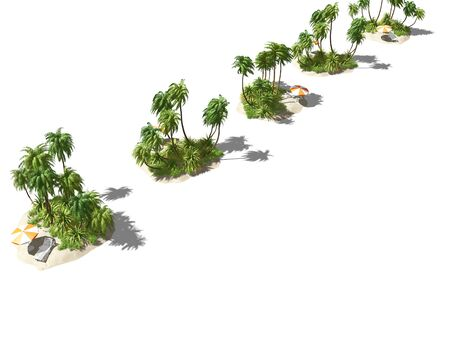 private island in the ocean. 3D illustration 写真素材 - 134200604
