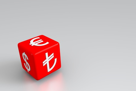 currency exchange: Currency exchange on the red dice