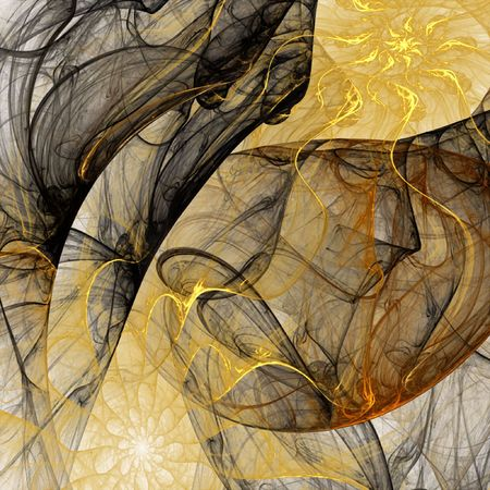 airy: Abstract airy background in yellow and black Stock Photo