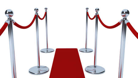 red velvet rope: VIP rope barriers Stock Photo